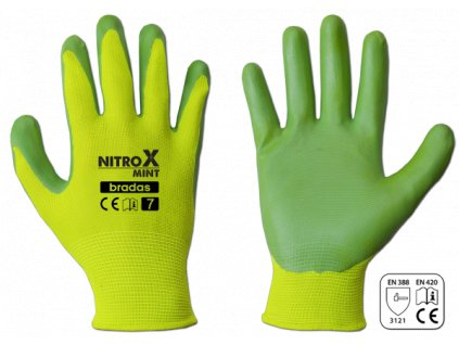 Pracovní rukavice potažené nitrilem, velikost S
