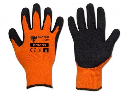 Pracovní rukavice potažené latexem, velikost M