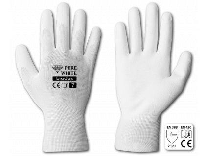 Pracovní rukavice potažené polyuretanem, velikost S