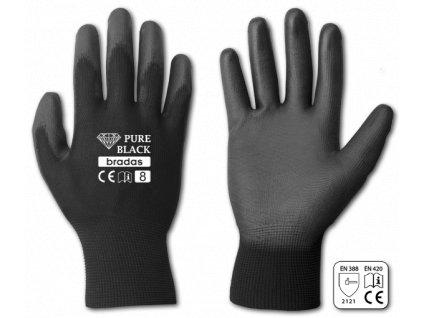 Pracovní rukavice potažené polyuretanem, velikost XL