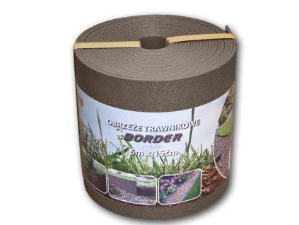 Plastový obrubník Hnědý - skrytá zahradní obruba BORDER 15cm - 6m