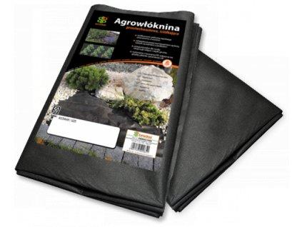Netkaná mulčovací textilie černá, 1,6x10m, 50g/m²