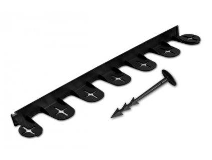 Skrytá obruba PALISGARDEN BRADAS 38mm - 3m černá