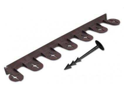 Skrytá obruba PALISGARDEN 38mm - 3m hnědá