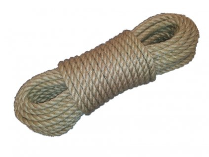 Stáčený provaz materiál Juta 100% 8mm délka návinu 15m
