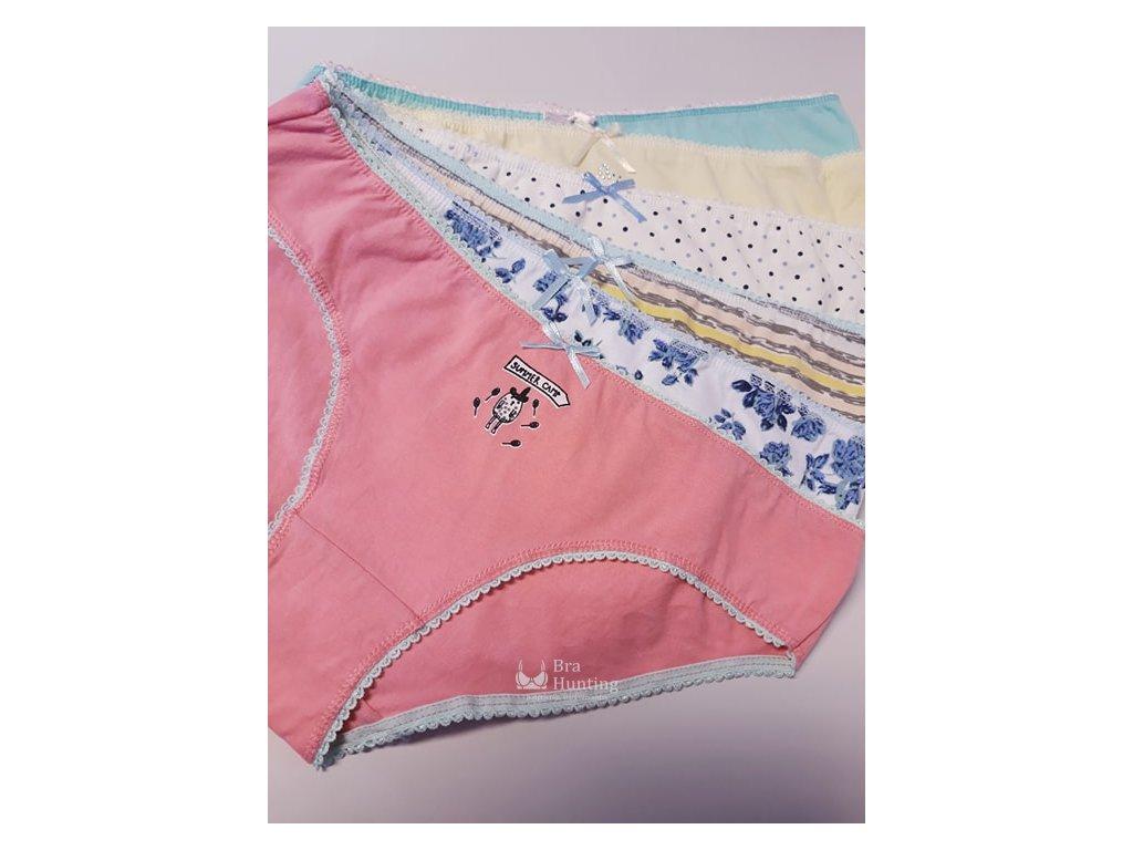 vesele divci bavlnene kalhotky barevne 2701