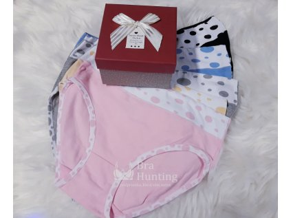 damske klasicke bavlnene kalhotky puntiky