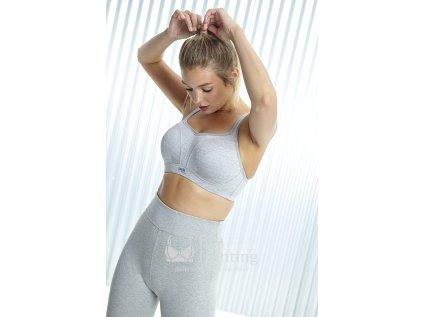 panache sportovni podprsenka s kostici 5021 grey marl