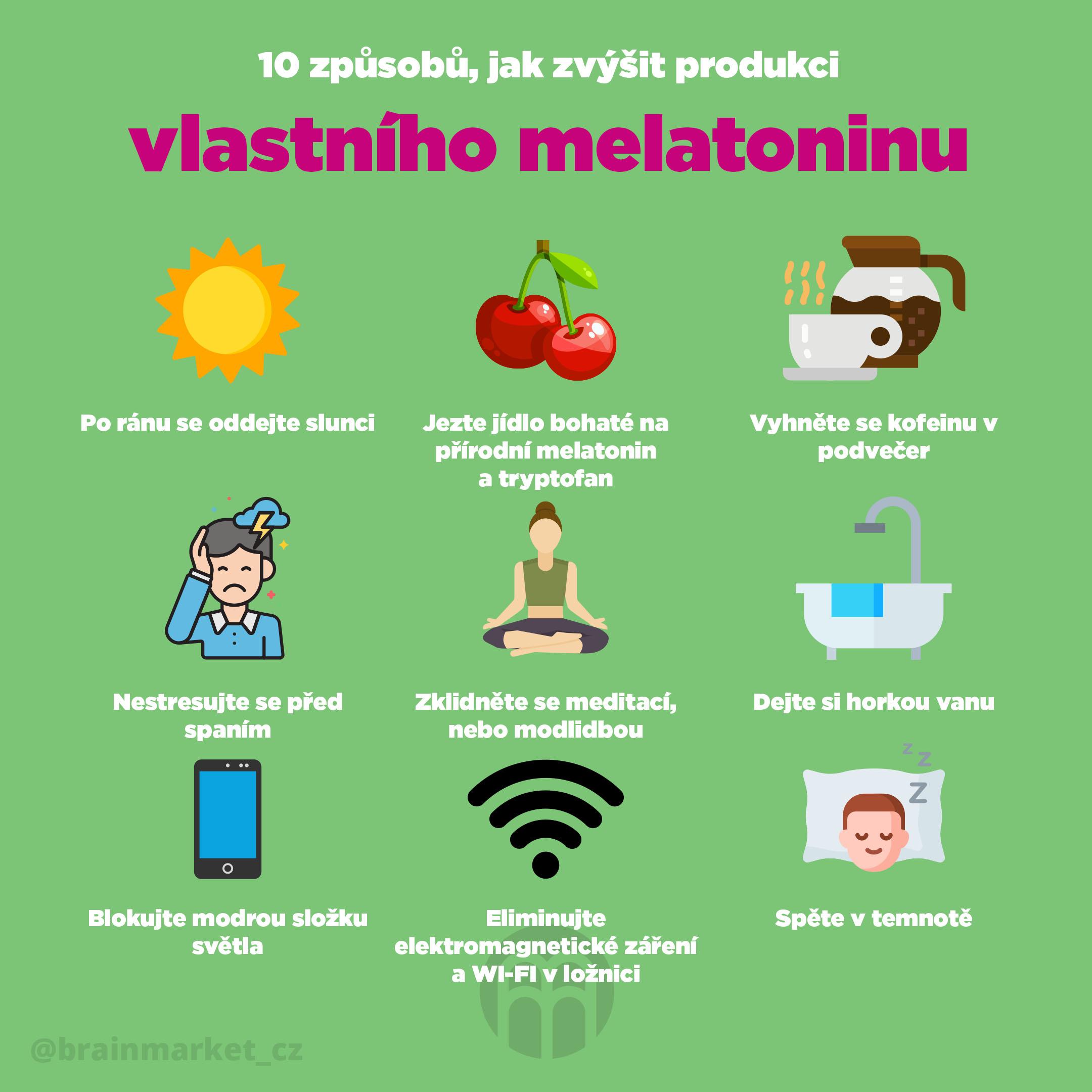 10 způsobů, jak zvýšit produkci vlastního melatoninu