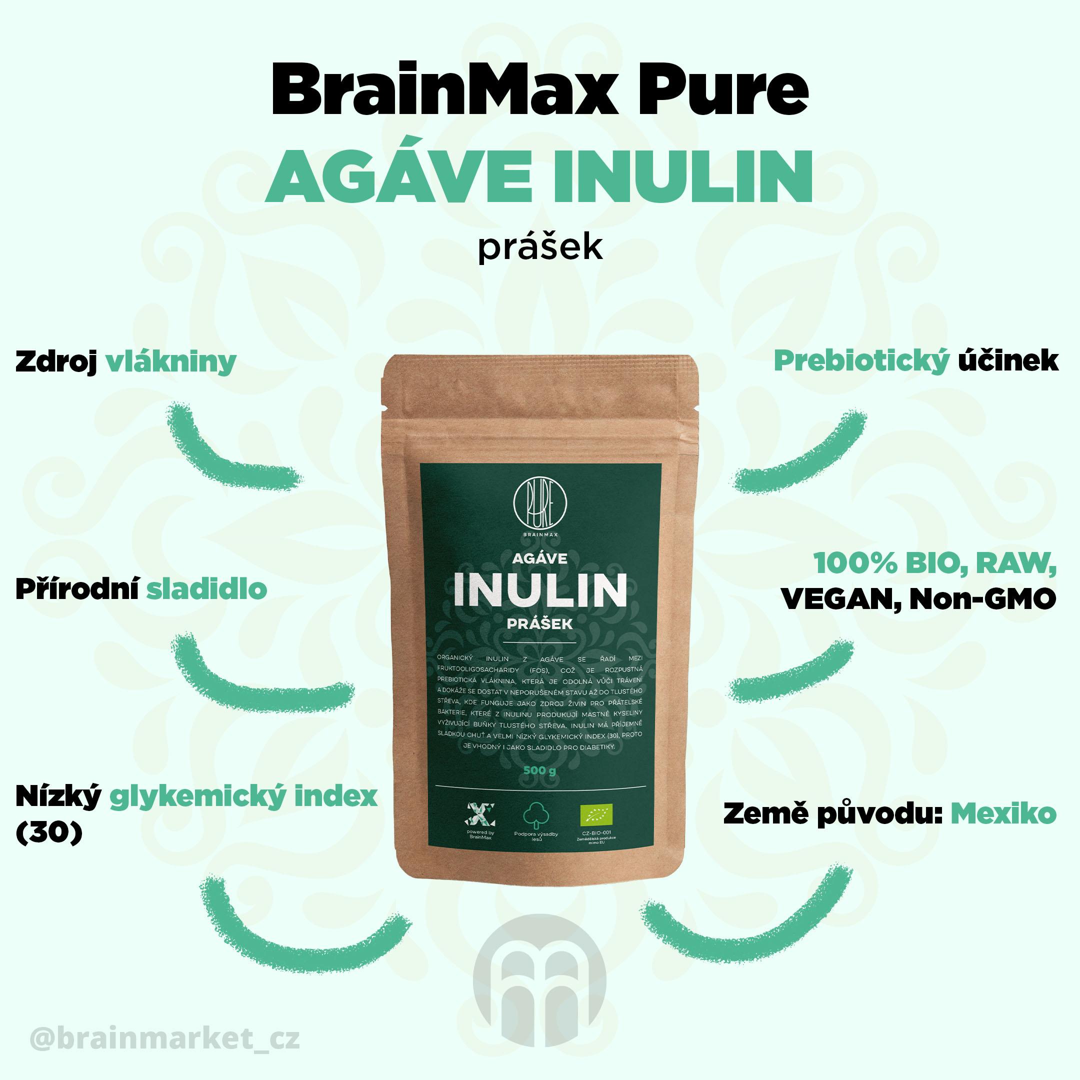 Inulin z Agáve - vlastnosti, výhody
