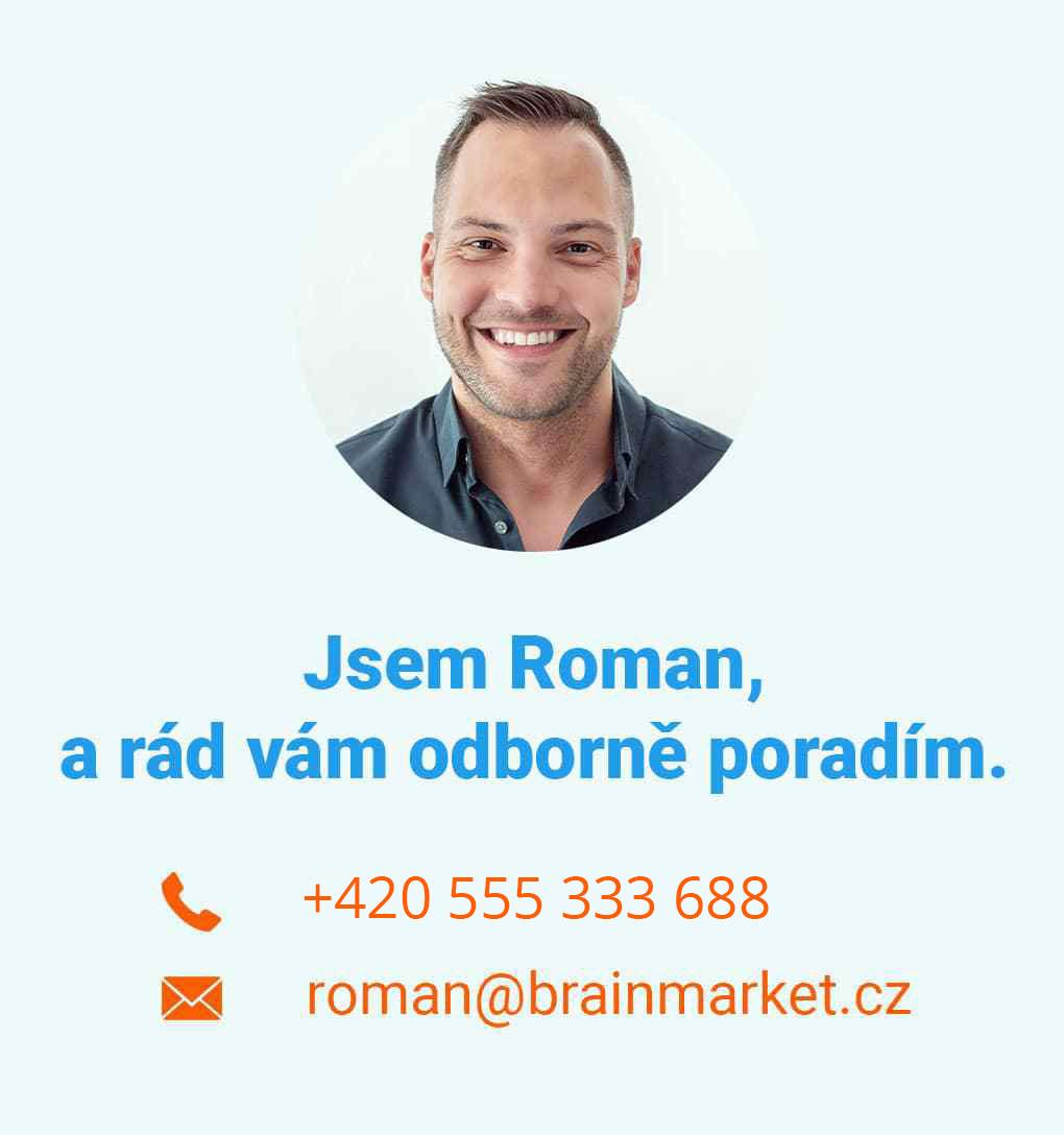 Executive manager Roman Vám rád odborně poradí v pracovní dny od 8:00 do 16:00 ohledně jakéhokoliv produktu.