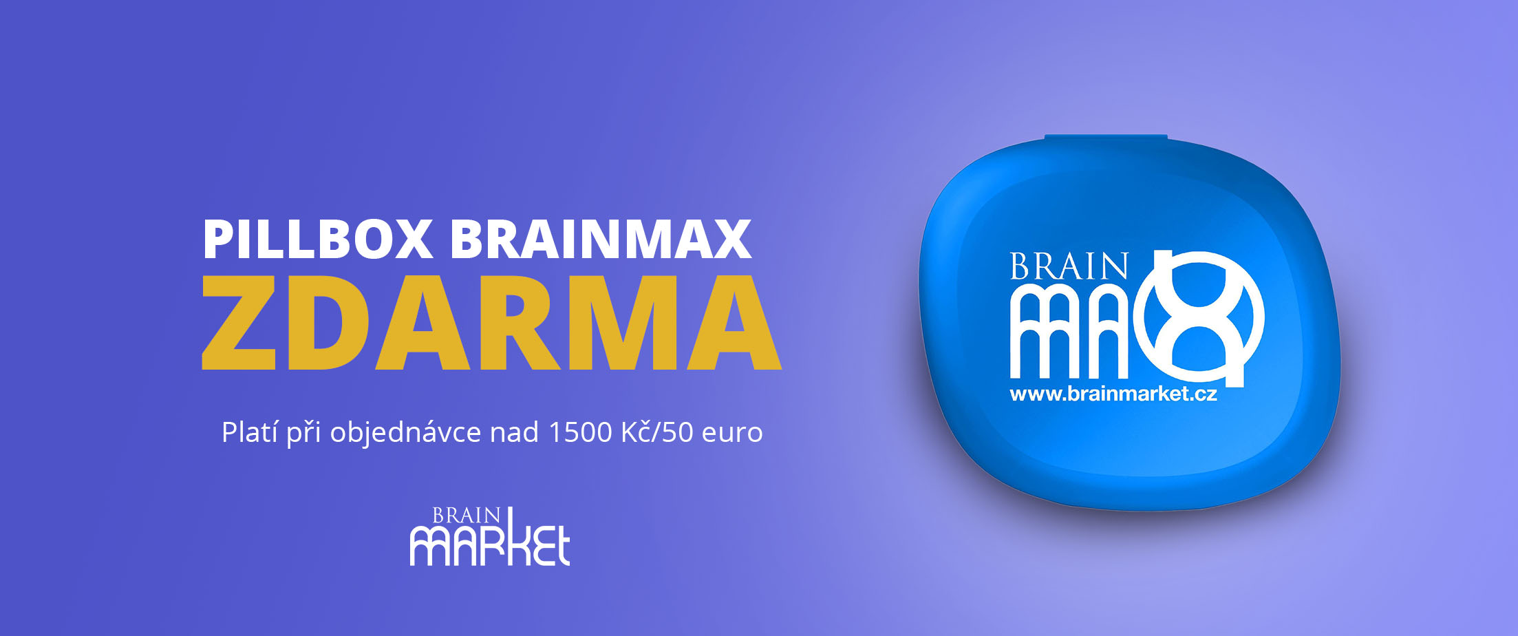 Zásobník na kapsle BrainMax jako dárek