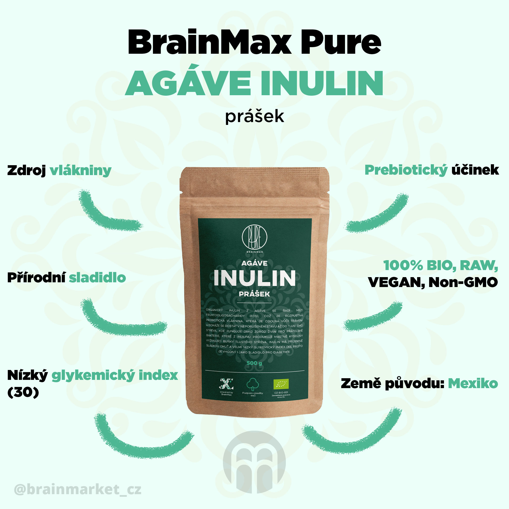 inulin-agave-brainmax-pure-infografika-brainmarket-cz