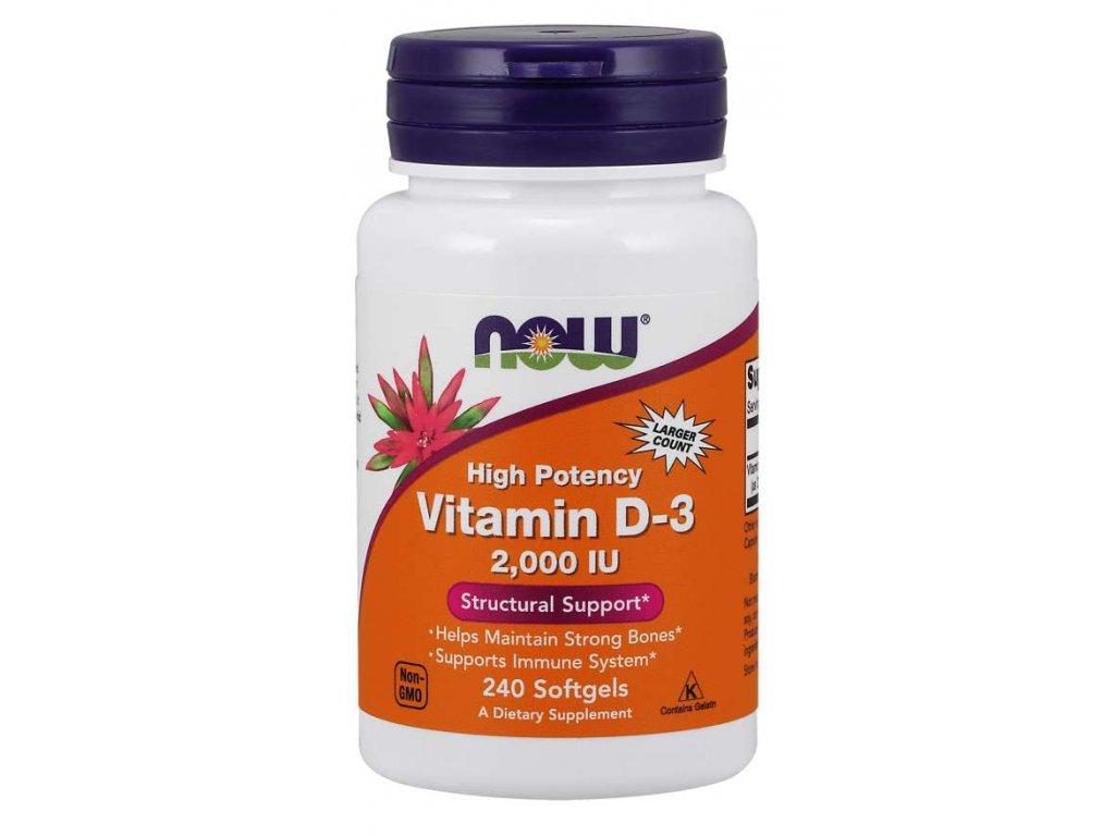 Vitamin D 3, 2000IU, 240 caps