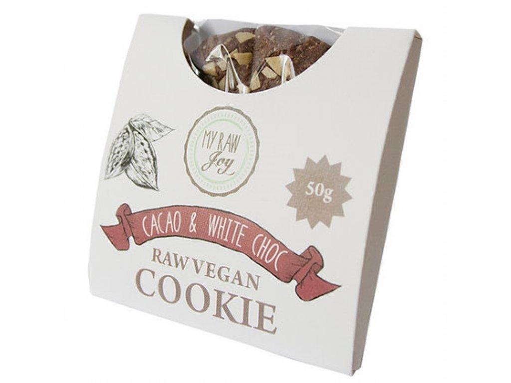 My Raw Joy - Kakaová sušenka s bílými čoko-kousky, 50g  *CZ-BIO-001 certifikát