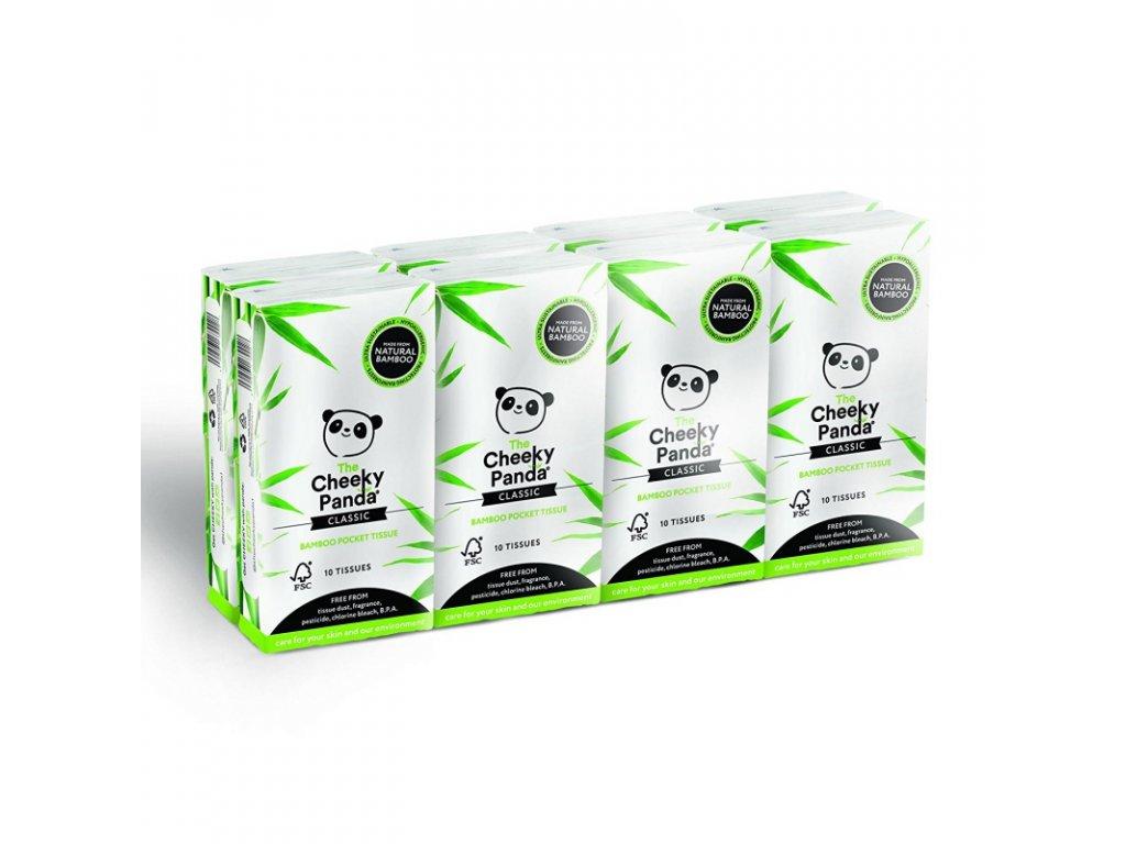 cheeky panda kapesni ubrousky 3 vrstve 8 baleni 1293