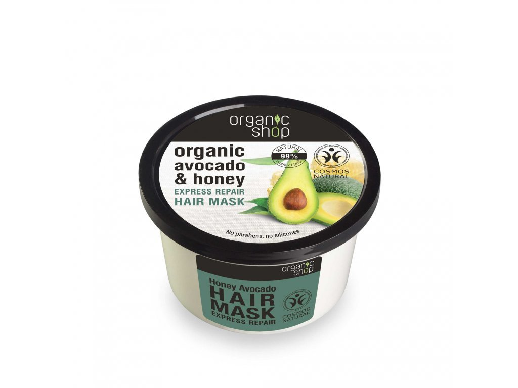 1877 1 organic shop maska na vlasy avokado a med