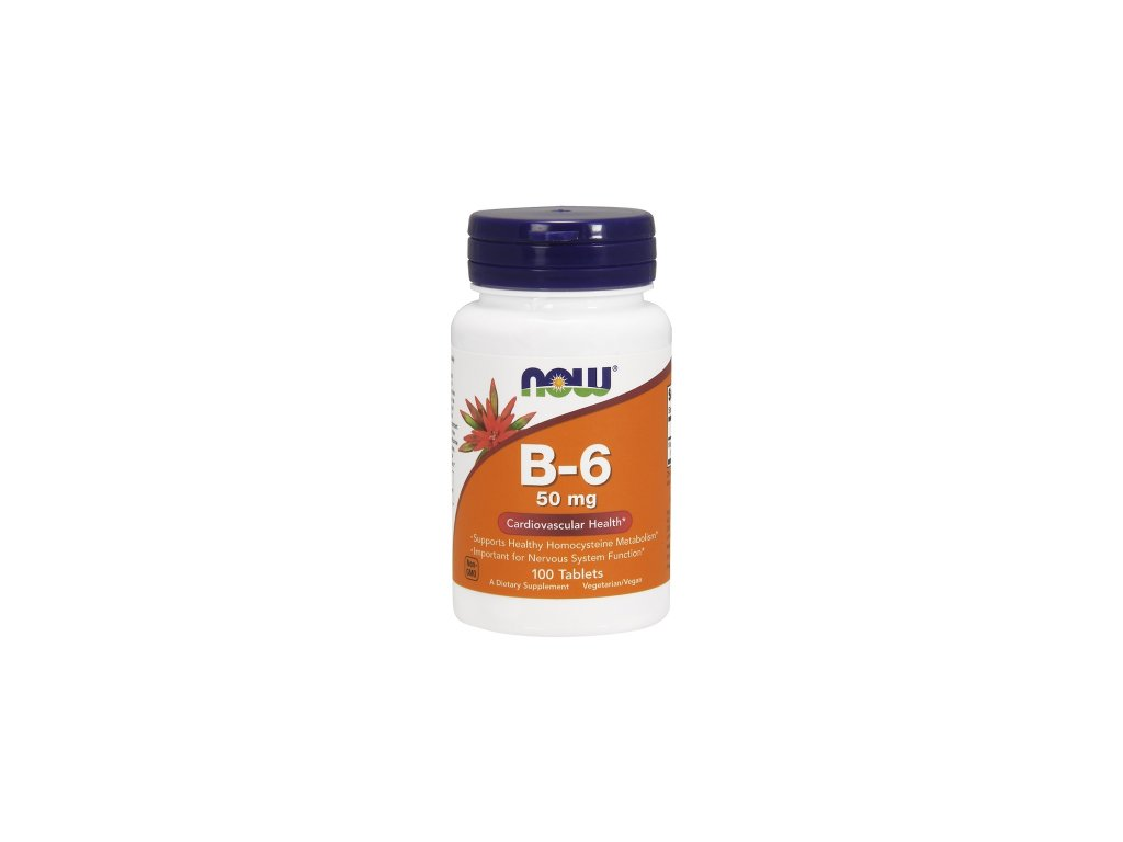 Now Foods B6 50mg 100tablet front