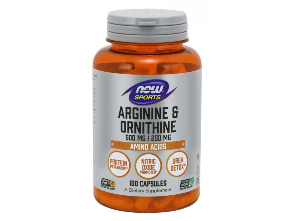 now arginine ornithine 500 250mg 200kapsli