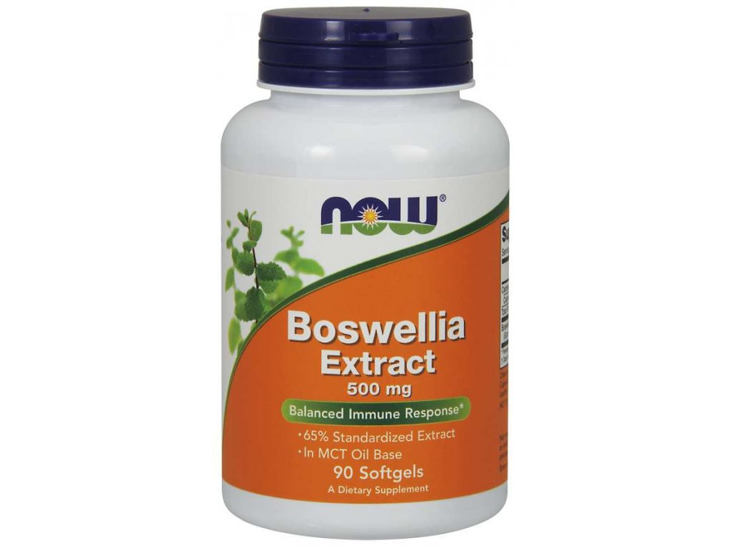 NOW Boswellia Extrakt, 500 mg, 90 softgelových kapslí