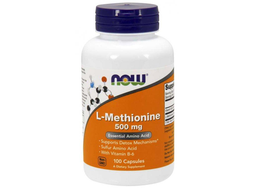 NOW L Methionine, 500mg, 100 rostlinných kapslí