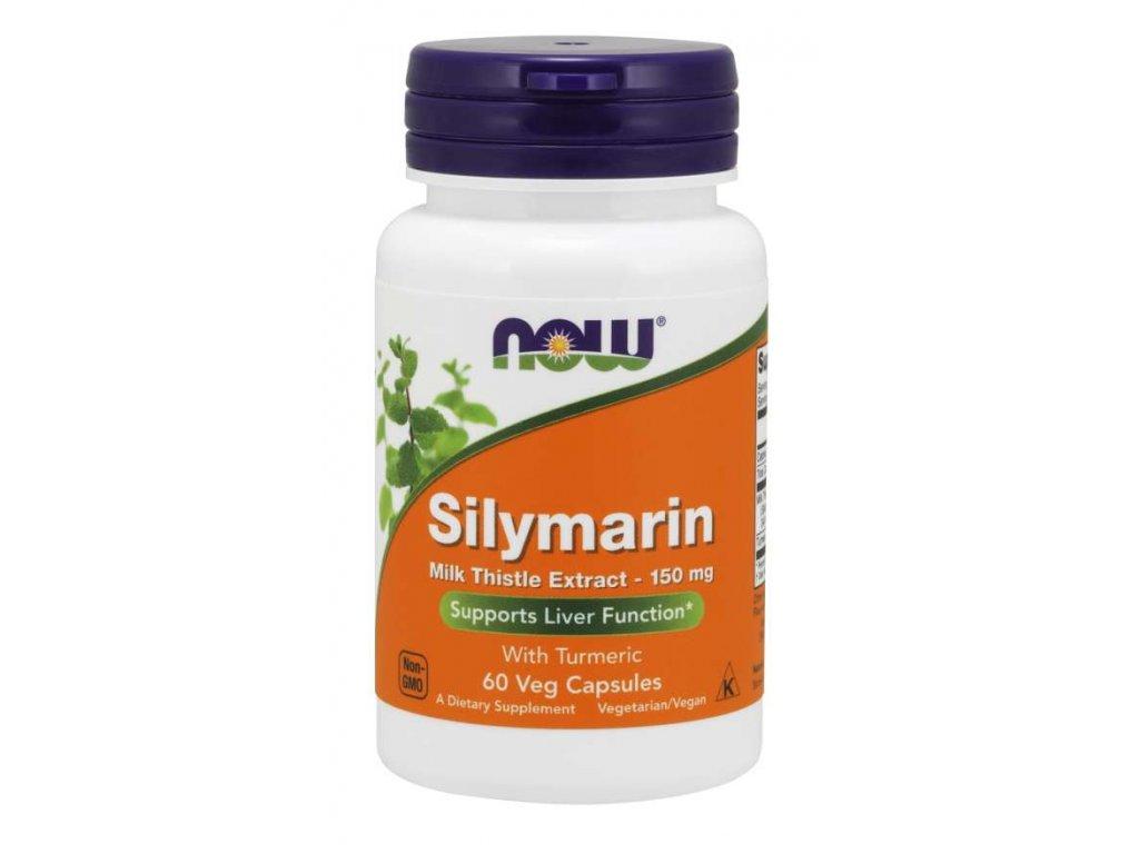 NOW Silymarin with Turmeric (extrakt z ostropestřce s kurkumou), 150 mg, 60 rostlinných kapslí