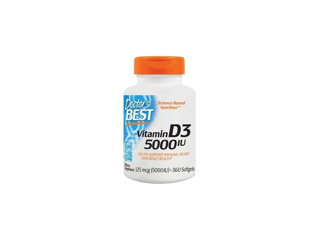 Doctor'sVitamin D3, 5000 IU, 360 kapslí