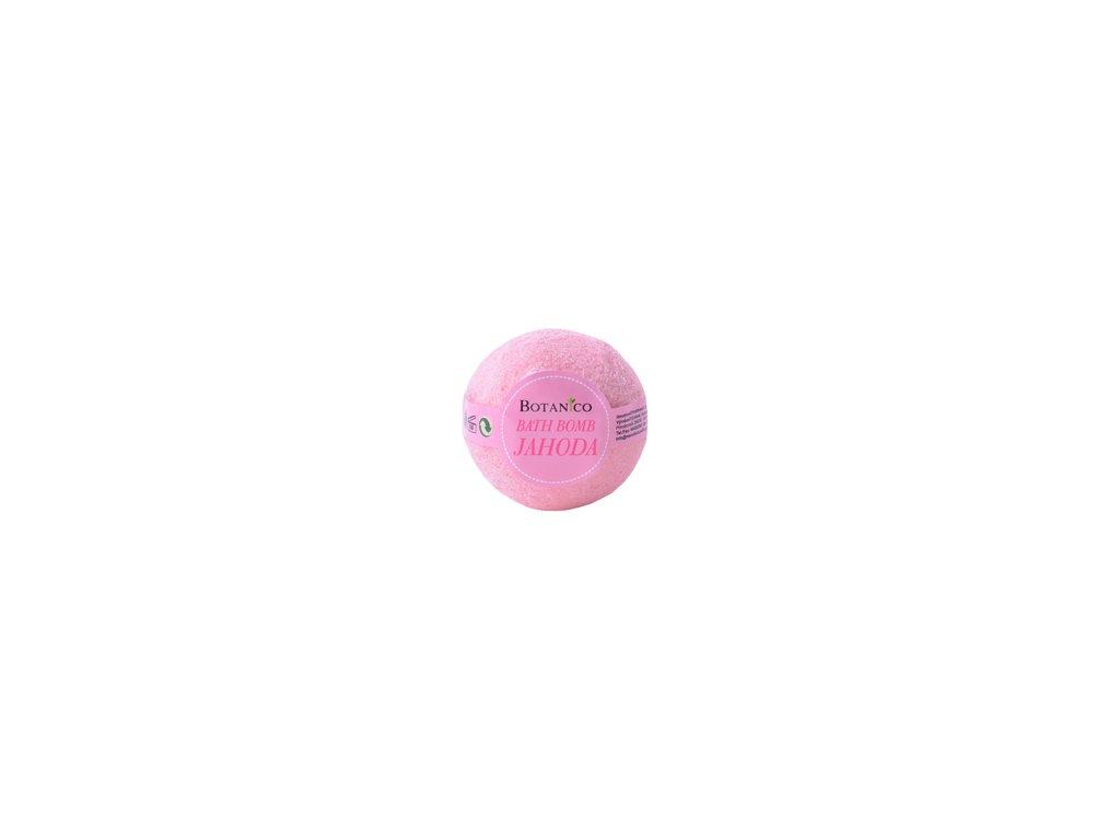 BOTANICO - bath bombs (šumivá koupelová koule), 50g - jahoda