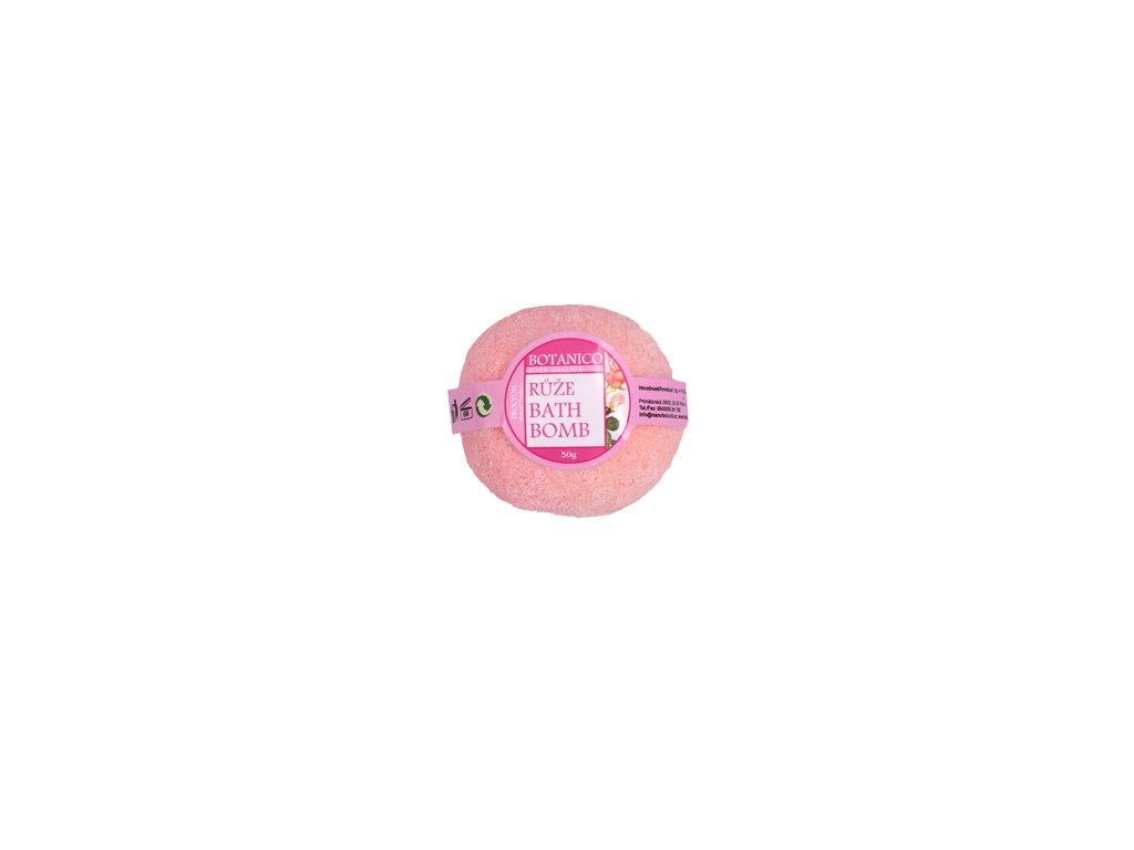BOTANICO - bath bombs (šumivá koupelová koule), 50g - růže růžová