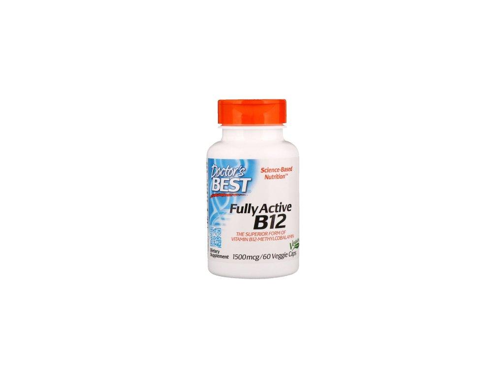 Doctors best Vitamin B12 1500mcg 60 capsules front