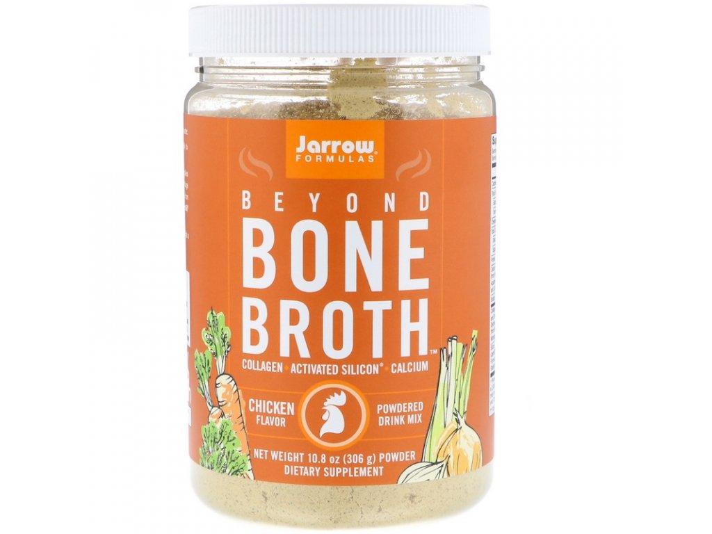Jarrow Beyond Bone Broth, kuřecí, 306g (Instantní vývar z kostí)