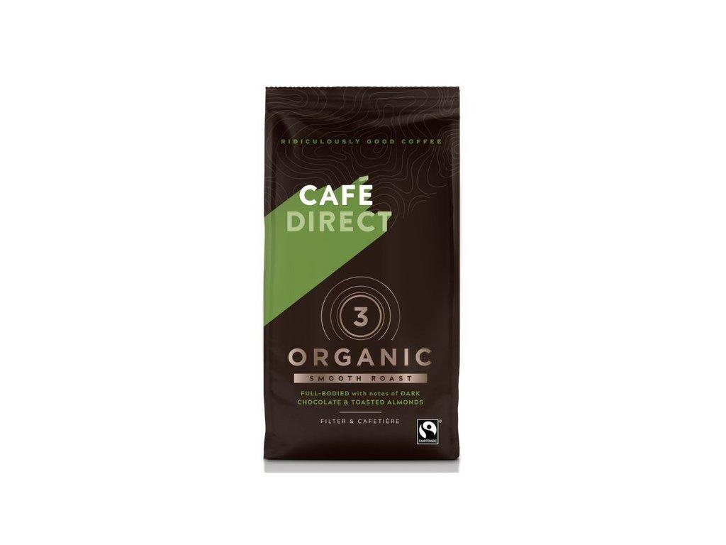 BIO Organic Smooth mletá káva s tóny pražených mandlí 227g