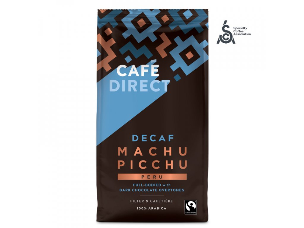 Cafedirect Machu Picchu SCA 82 mleta kava bez kofeinu 227g