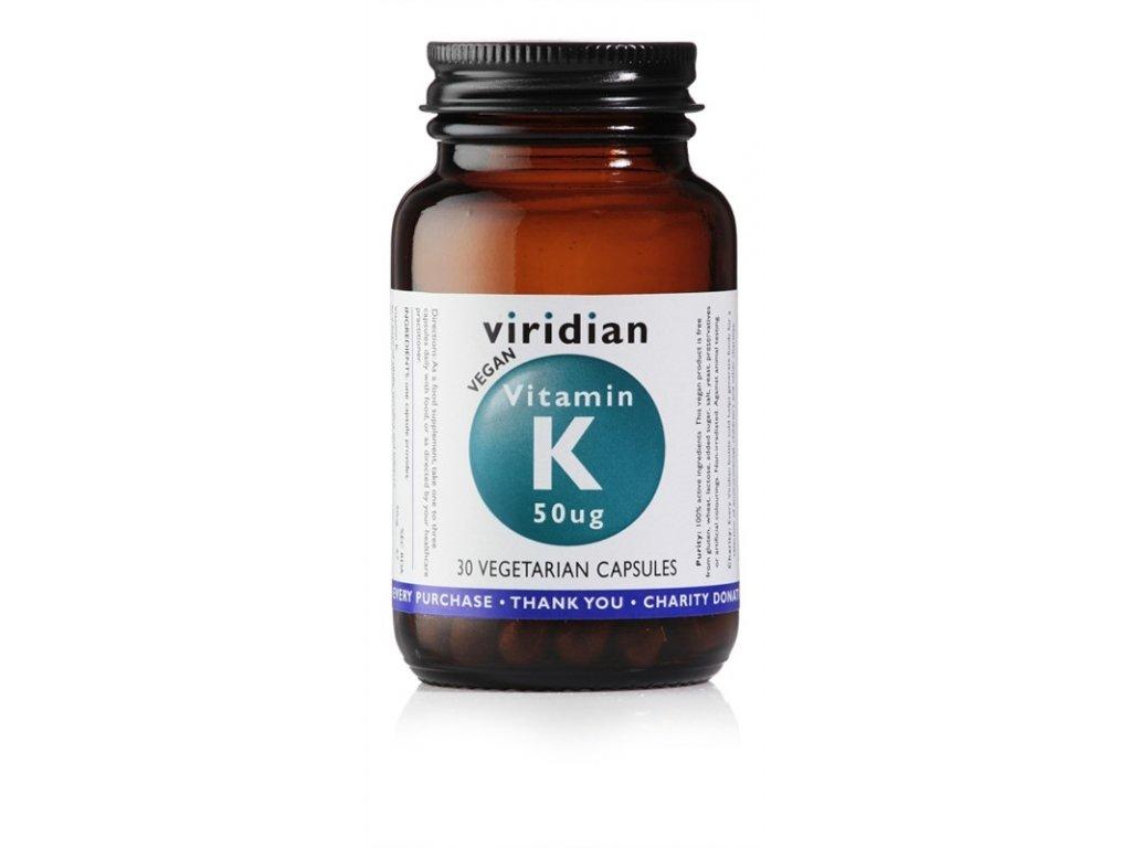 Vitamin K 50ug 30 viridian