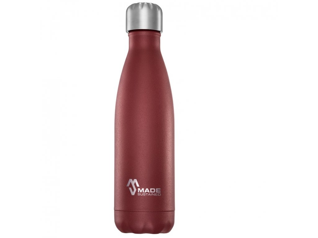 Made Sustained 500ml insulated Knight bottle Bordeaux red web