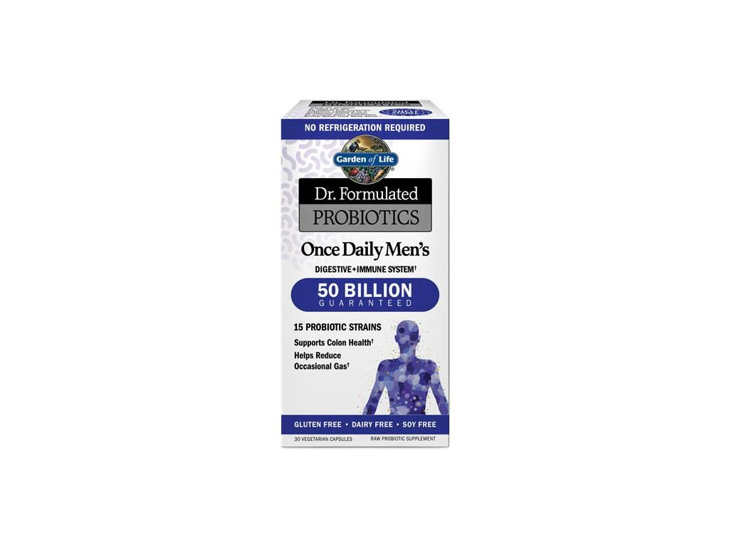 dr formulated probiotics once daily mens 30 veggie capsules 1 g
