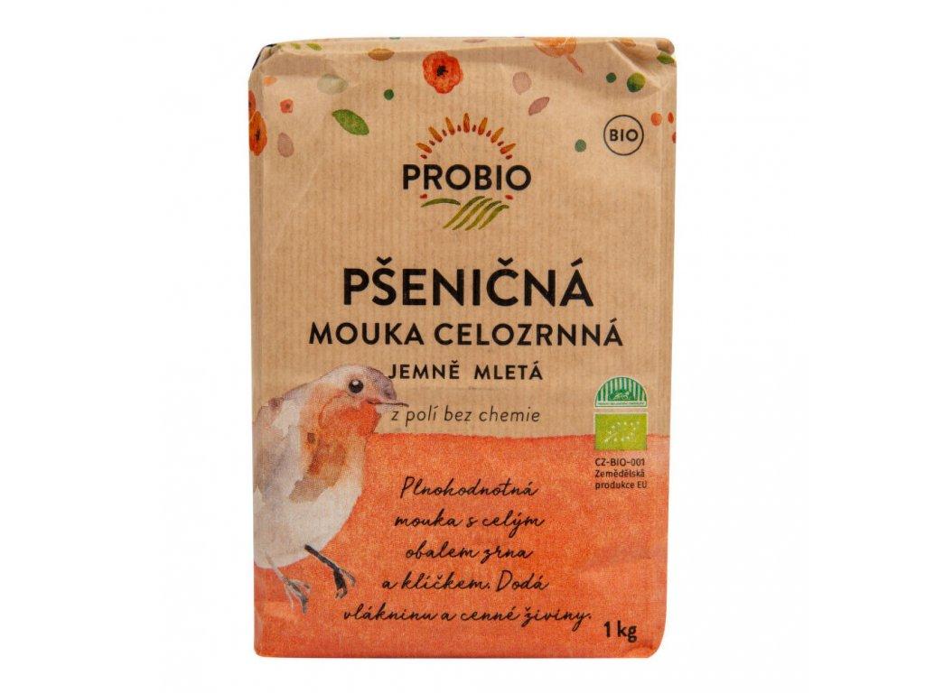 PROBIO - Mouka pšeničná celozrnná jemně mletá BIO, 1kg  *CZ-BIO-001 certifikát, Expirace 3.5.2021