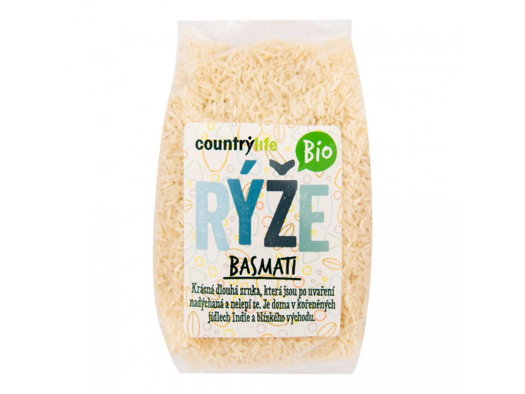 CountryLife - Rýže basmati BIO, 1kg  *CZ-BIO-001 certifikát