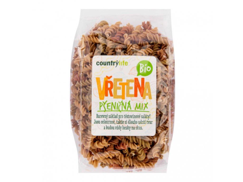 CountryLife - Těstoviny vřetena pšeničná mix BIO, 400g  *CZ-BIO-001 certifikát