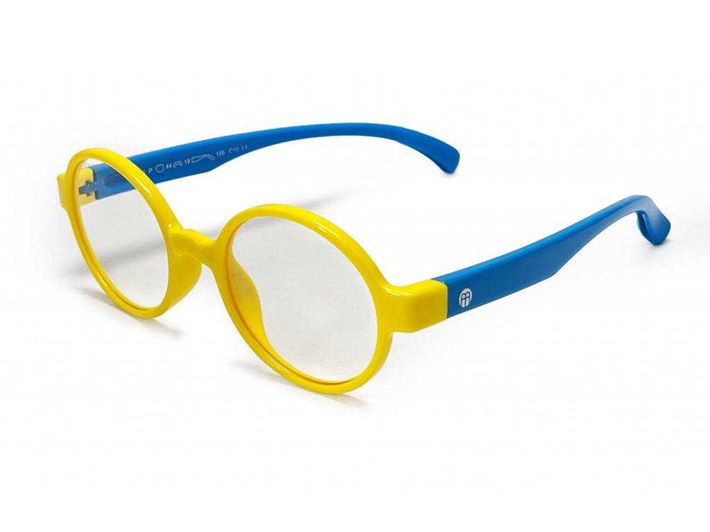 Dětské brýle CUBE blokující 15% modrého světla (žluto-modré)