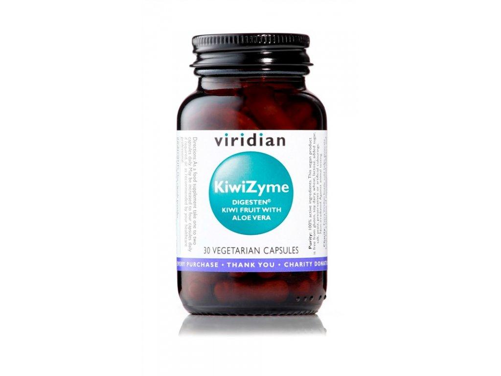 travici enzymy viridian KiwiZyme 500mg with Aloe Vera 30 maly