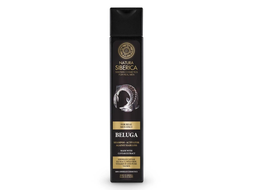 Natura Siberica, Muži - Šampon proti výpadku vlasů Beluga, 250 ml