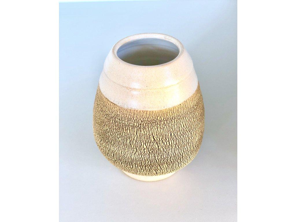 Keramická kalabasa písková práskaná 350 ml