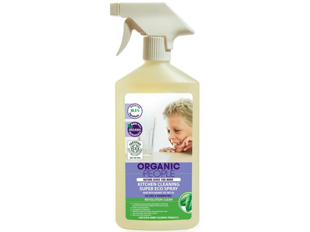 Organic People - Kuchyňský čistící eco sprej, 500 ml