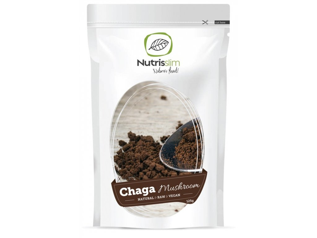 chaga mushroom powder nutrisslim superfood organic vegan raw