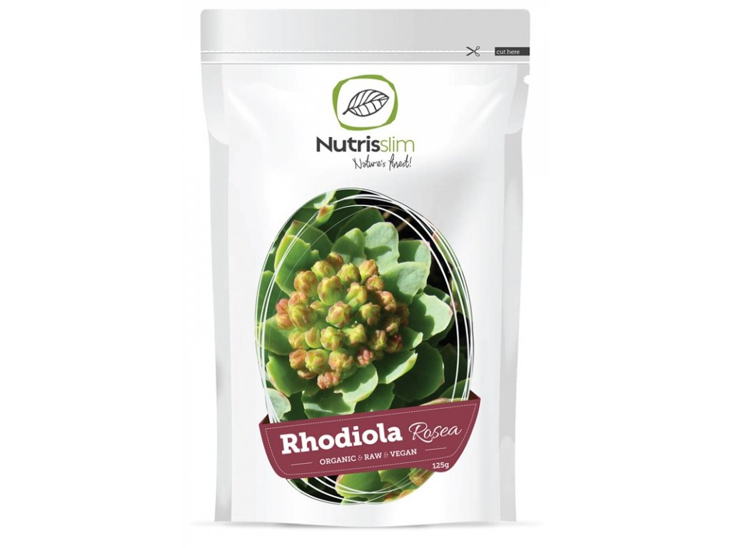 rhodiola rosea powder nutrisslim superfood organic vegan raw