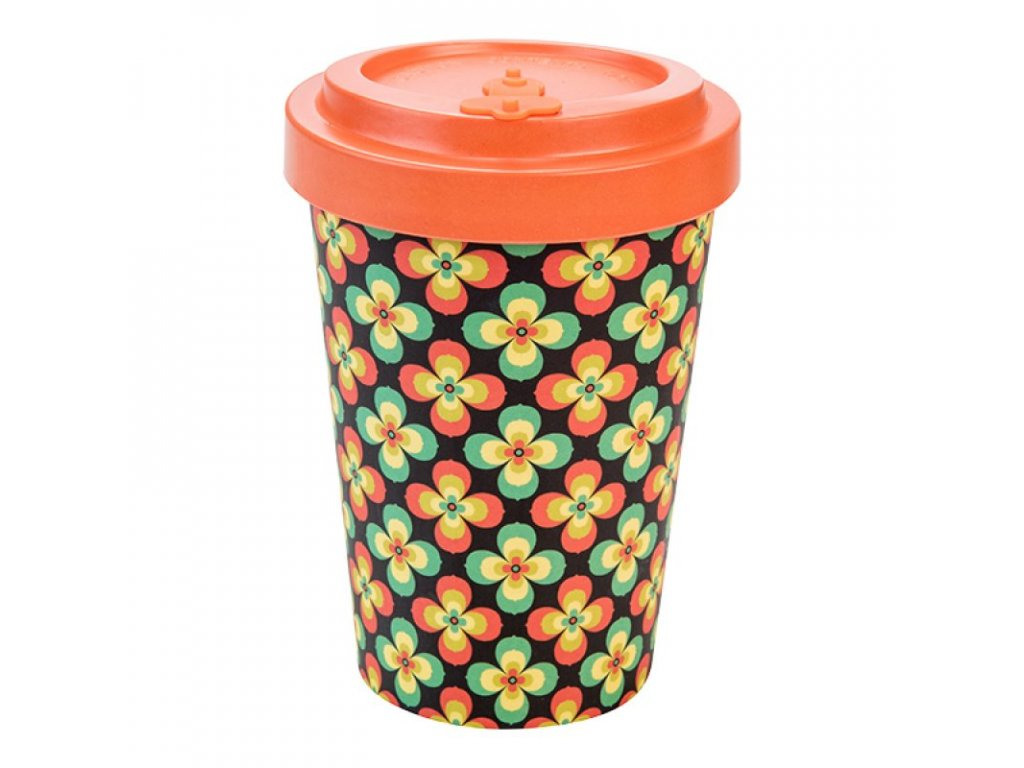 woodway retro flowers orange 400ml