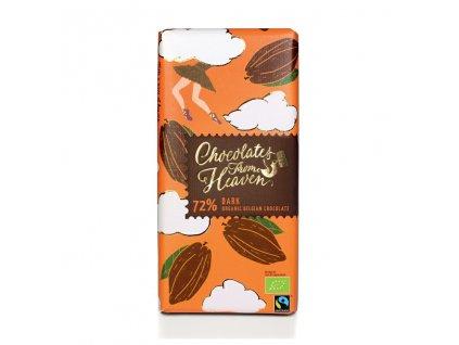 Chocolates From Heaven BIO horka cokolada 72% 100g