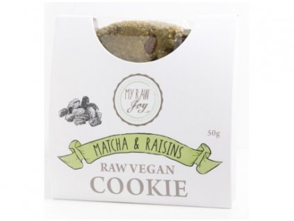 cookie superfood bio matcha rozinky