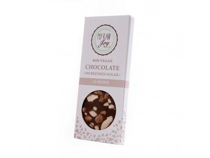 My Raw Joy - Čokoláda s Mandlemi  *CZ-BIO-001 certifikát